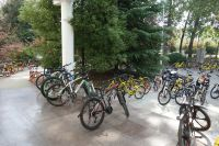 south_campus_1_bikes_in_front_of_lanugage_building_autumn_2017